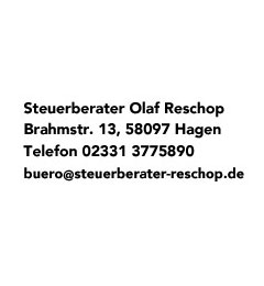 Steuerberater Olaf Reschop