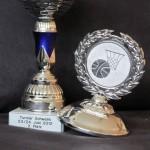 Pokal für den zweiten Platz im Turnier