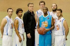 Grevenbroich Neuzugänge: Cozzo, Sadek, Coach Oehmen, Lange, Bynum, Dohmen und Laschewski